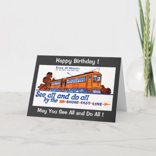 The Shore Fast Line Trolley Service Birthday Card Zazzle