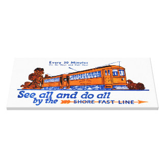 The Shore Fast Line Trolley Service Canvas Print
