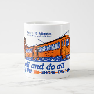 The Shore Fast Line Trolley Service Large Coffee Mug