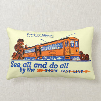 The Shore Fast Line Trolley Service Lumbar Pillow