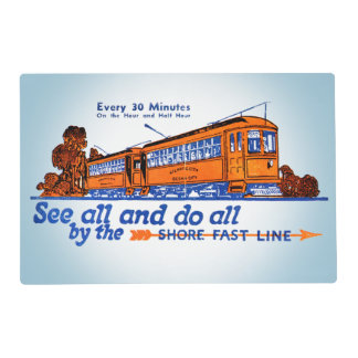 The Shore Fast Line Trolley Service Placemat