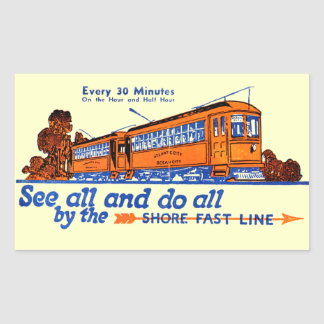 The Shore Fast Line Trolley Service Sticker