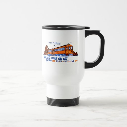 The Shore Fast Line Trolley Service Travel Mug