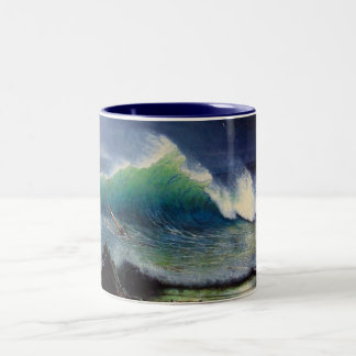 The Shore of the Turquoise Sea Two-Tone Coffee Mug
