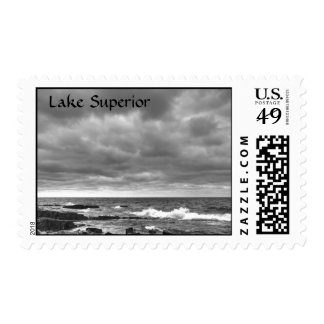 The Shores of Lake Superior Postage Stamp