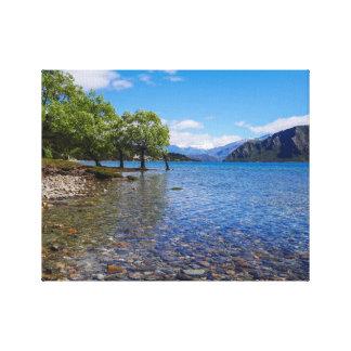 The shores of Lake Wanaka, New Zealand Canvas Print