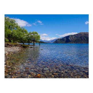 The shores of Lake Wanaka, New Zealand - Postcard