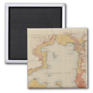 The Shores of Yellowstone Lake 2 Inch Square Magnet