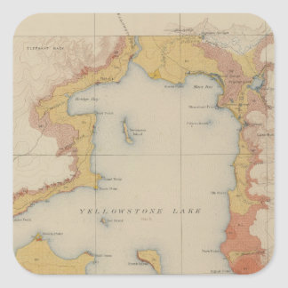 The Shores of Yellowstone Lake Square Sticker
