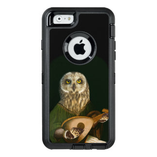 The Short-eared Owl and His Lute - Cute Otter Box OtterBox Defender iPhone Case