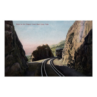 The Short Line Railroad Car Poster