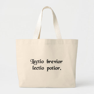 The shortest reading is the more probable reading tote bags
