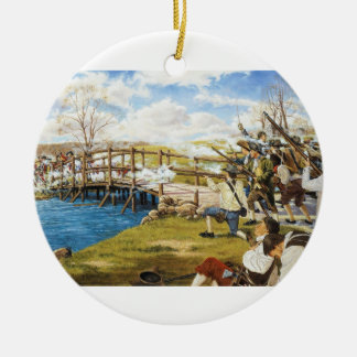 The Shot Heard Round the World Domenick D Andrea Christmas Tree Ornament
