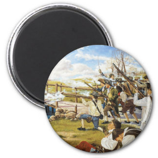 The Shot Heard 'Round the World Domenick D'Andrea 2 Inch Round Magnet