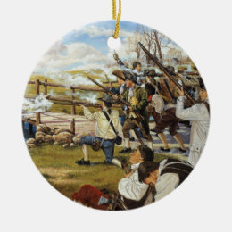 The Shot Heard 'Round the World Domenick D'Andrea Ceramic Ornament