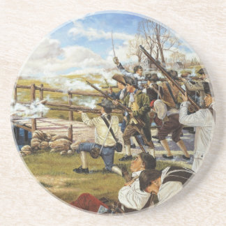 The Shot Heard 'Round the World Domenick D'Andrea Beverage Coaster
