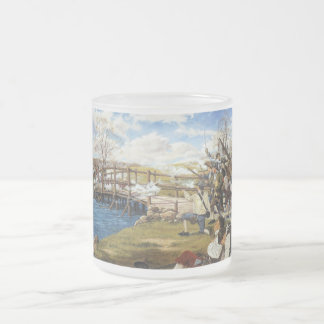 The Shot Heard 'Round the World Domenick D'Andrea Frosted Glass Coffee Mug