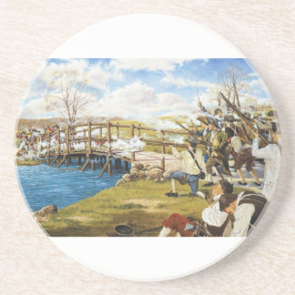 The Shot Heard 'Round the World Domenick D'Andrea Sandstone Coaster