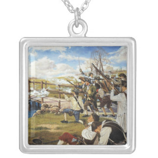 The Shot Heard 'Round the World Domenick D'Andrea Silver Plated Necklace
