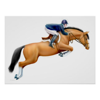 The Show Jumper Horse Print