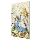 The Shower of Cards Canvas Print