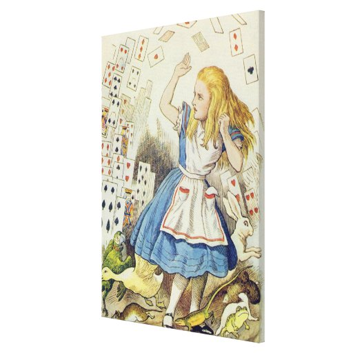 The Shower of Cards Canvas Prints