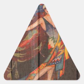 The Showgirl Triangle Sticker