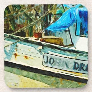 The Shrimp Boat John Drew Abstract Impressionism Coasters