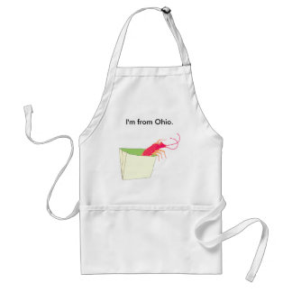 The shrimp in the paper bag adult apron