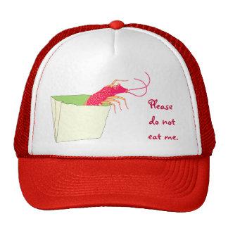 The shrimp in the paper bag trucker hat