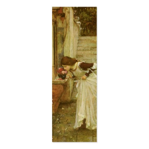 The Shrine by JW Waterhouse, Vintage Victorian Art Double-Sided Mini Business Cards (Pack Of 20)
