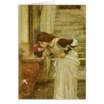 The Shrine by JW Waterhouse, Vintage Victorian Art Greeting Card