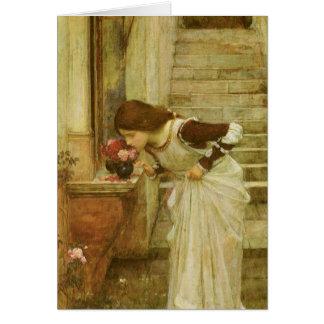 The Shrine by JW Waterhouse, Vintage Victorian Art Greeting Card