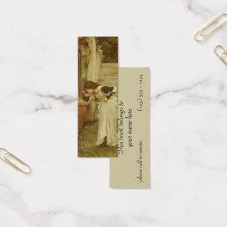 The Shrine by JW Waterhouse, Vintage Victorian Art Mini Business Card