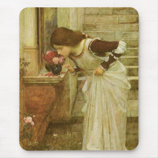 The Shrine by JW Waterhouse, Vintage Victorian Art Mouse Pad