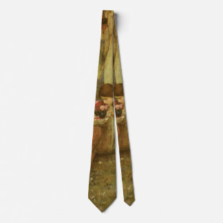 The Shrine by JW Waterhouse, Vintage Victorian Art Neck Tie