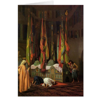 The Shrine of Imam Hussein by Jean-Leon Gerome Greeting Card