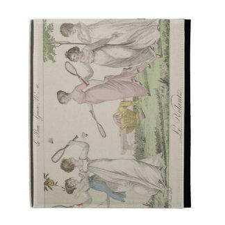 The Shuttlecock, plate 11 from 'Le Bon Genre', 180 iPad Folio Case
