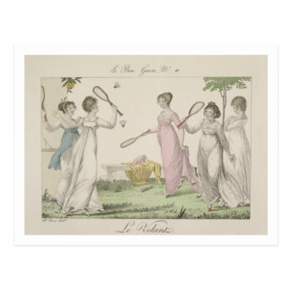 The Shuttlecock, plate 11 from 'Le Bon Genre', 180 Post Cards