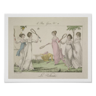 The Shuttlecock, plate 11 from 'Le Bon Genre', 180 Poster