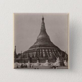 The Shwedagon Pagoda at Rangoon, Burma, c.1860 Pinback Button