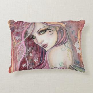 The Shy Flirt Fairy Modern Fantasy Art Accent Pillow
