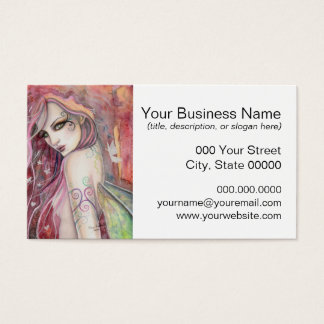 The Shy Flirt Modern Fairy Fantasy Art Business Card