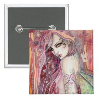 The Shy Flirt Modern Fairy Fantasy Art Button