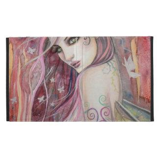 The Shy Flirt Modern Fairy Fantasy Art iPad Folio Cases