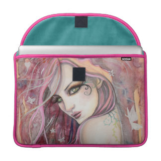 The Shy Flirt Modern Fairy Fantasy Art MacBook Pro Sleeve