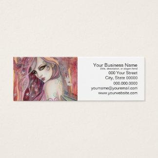 The Shy Flirt Modern Fairy Fantasy Art Mini Business Card