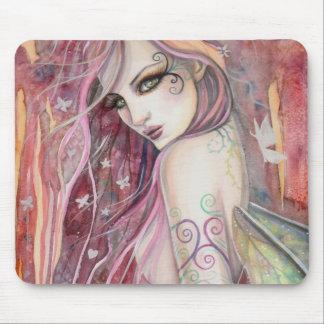 The Shy Flirt Modern Fairy Fantasy Art Mouse Pad