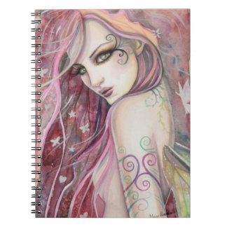 The Shy Flirt Modern Fairy Fantasy Art Notebook