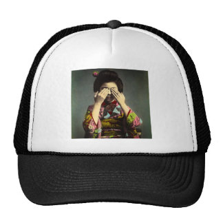 The Shy Geisha Vintage Old Japan Hand Colored Trucker Hat